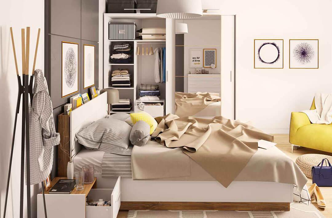Lekko i jasno – przytulna sypialnia DENTRO